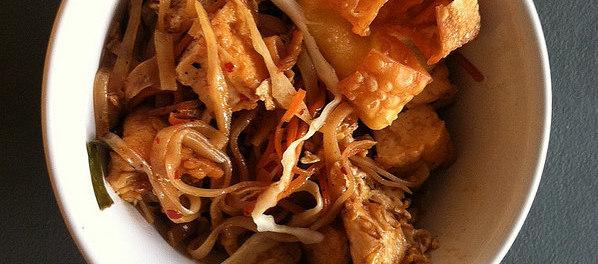 Tofu Pad Thai from Tik's Thai in Beavercreek, Ohio.