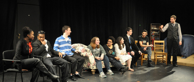 The cast of Asylum and director Dylan George host a talk back after the play.