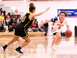 Wittenberg Women's Basketball faces Wooster on Feb. 15, 2020 for Senior Day. The Tigers won 67-36 over the Fighting Scots and head to Oberlin Saturday, Feb. 22 on a five game winning streak.