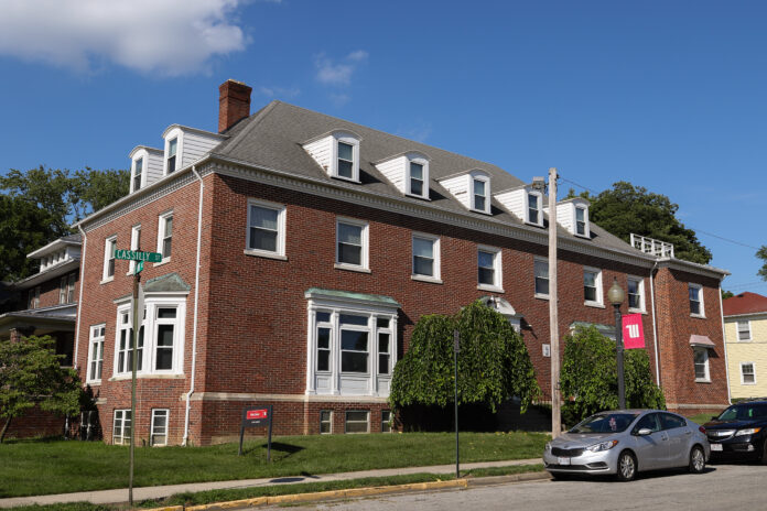 Polis House, the quarantine housing location for Wittenberg students, is seen on Aug. 23, 2020. Wittenberg is using the residence hall to house quarantined students until testing results return from the Clark County Combined Health District. (Trent Sprague/The Wittenberg Torch)