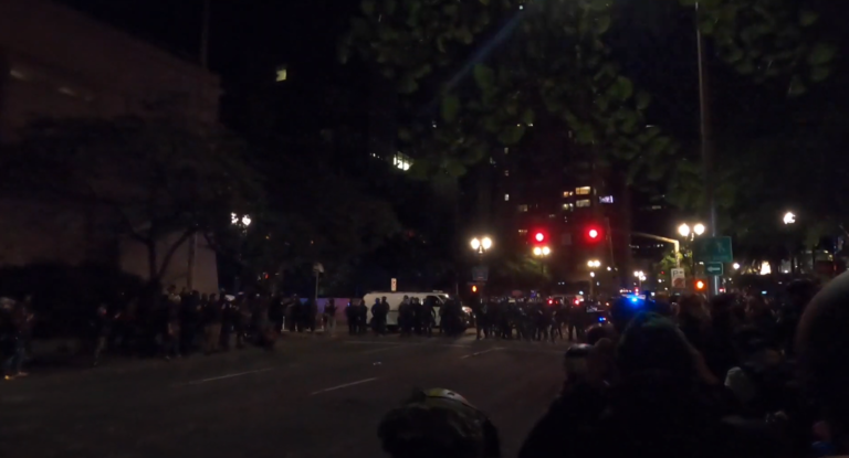 I Spent a Night Protesting in Portland. Here's What I Saw